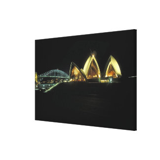 Sydney Opera House at night, New South Wales, 2 Canvas Print