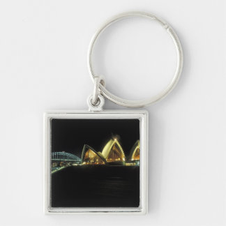 Sydney Opera House at night, New South Wales, 2 Keychain