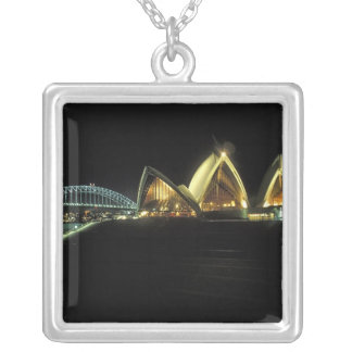 Sydney Opera House at night, New South Wales, 2 Custom Necklace
