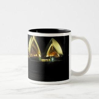 Sydney Opera House at night, New South Wales, 2 Two-Tone Coffee Mug