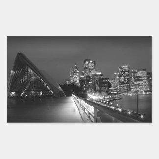 Sydney Opera House at Night Rectangular Sticker