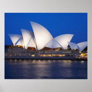 Sydney Opera House at Night, Sydney, New South Poster