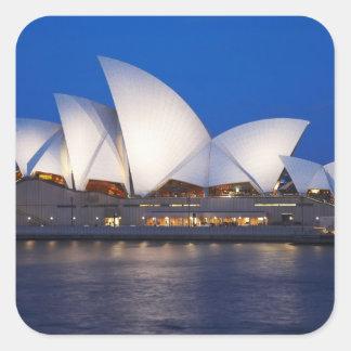 Sydney Opera House at Night, Sydney, New South Square Sticker