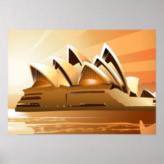 Sydney Opera House at sunrise Poster
