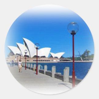 Sydney Opera House Australia Classic Round Sticker