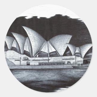 Sydney Opera House (Australia) Classic Round Sticker