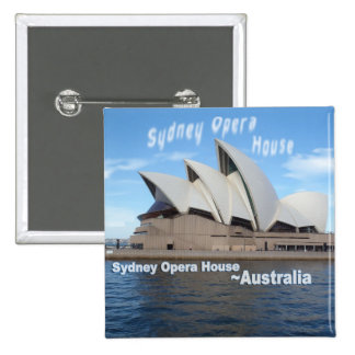 Sydney Opera House - Australia - Travel Pinback Button
