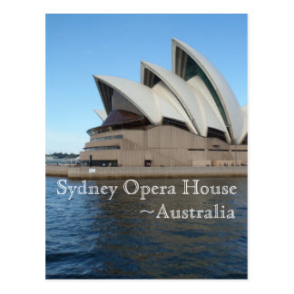 Sydney Opera House - Australia - Travel Post Card