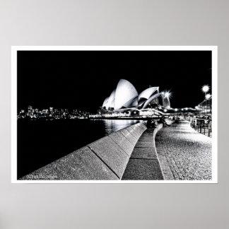 Sydney Opera House B&W Poster