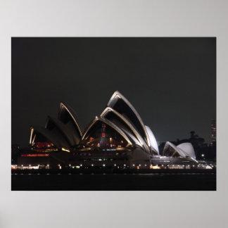 Sydney Opera House By Night Poster
