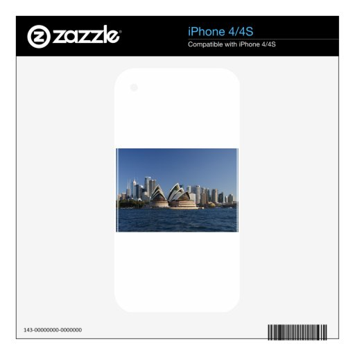 Sydney Opera House Decal For iPhone 4S
