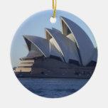 Sydney Opera House Double-Sided Ceramic Round Christmas Ornament