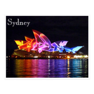 sydney opera house electric postcard