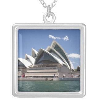 Sydney Opera House exterior, Sydney, New South Square Pendant Necklace