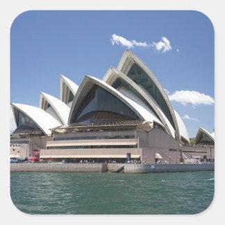 Sydney Opera House exterior, Sydney, New South Square Sticker