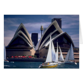 Sydney Opera House from the Harbor, New South Wale Card