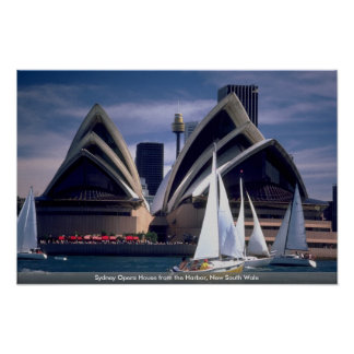 Sydney Opera House from the Harbor, New South Wale Print