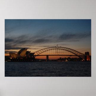 Sydney Opera house & Harbor Bridge Poster