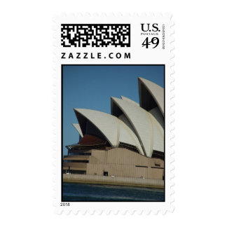 Sydney Opera House In Sunlight Backed By Cloud Postage Stamps