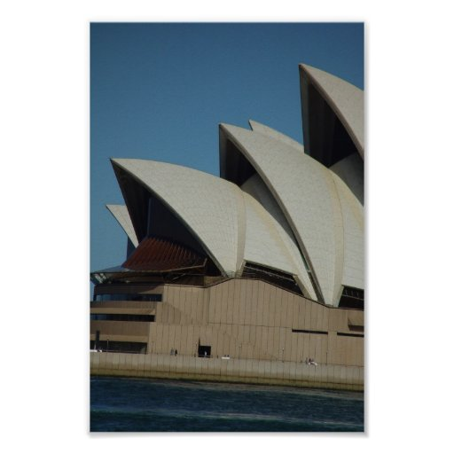 Sydney Opera House In Sunlight Backed By Cloud Poster