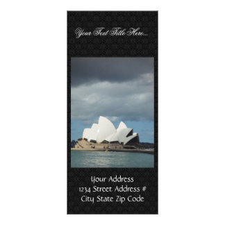 Sydney Opera House In Sunlight Backed By Cloud Custom Rack Card