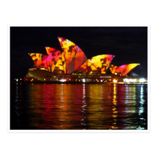 sydney opera house orange postcard
