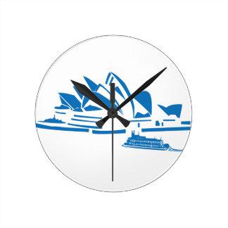 Sydney Opera House Round Clock