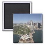 Sydney Opera House, Royal Botanic Gardens, CBD 2 Inch Square Magnet