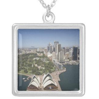 Sydney Opera House, Royal Botanic Gardens, CBD Silver Plated Necklace