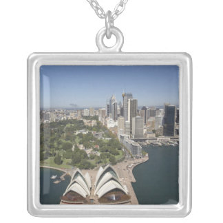Sydney Opera House, Royal Botanic Gardens, CBD Square Pendant Necklace
