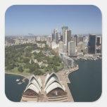 Sydney Opera House, Royal Botanic Gardens, CBD Square Sticker