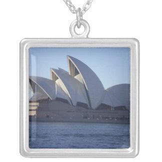Sydney Opera House Square Pendant Necklace