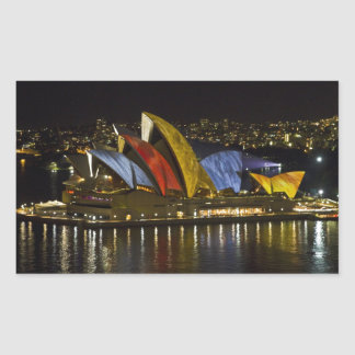 Sydney Opera House - Sydney Vivid Festival - Color Rectangular Sticker