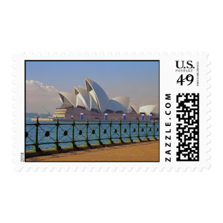 Sydney Opera House with Fence Stamps
