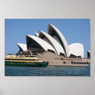 "Sydney Opera House With Sydney Ferry ""Collaroy"" Poster"