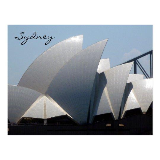 sydney opera sails postcard