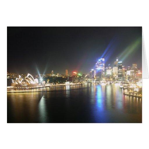 sydney opera skyline greeting card