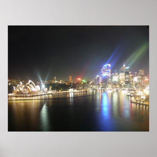 sydney opera skyline print