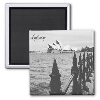 sydney opera view 2 inch square magnet
