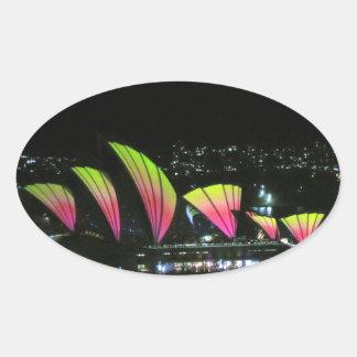 sydney opera vivid oval sticker