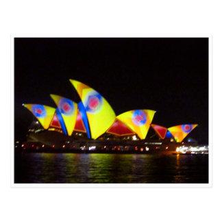 sydney opera yellow house postcard