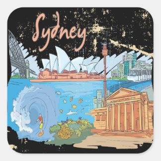 Sydney Pegatina Cuadrada
