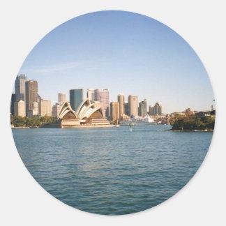 Sydney Pegatina Redonda