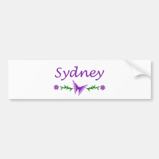 Sydney (Purple Butterfly) Bumper Sticker