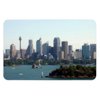 sydney sky line rectangular photo magnet