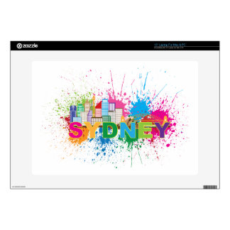 "Sydney Skyline Abstract Color Illustration 15"" Laptop Decal"