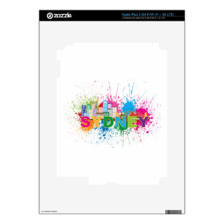 Sydney Skyline Abstract Color Illustration Decal For iPad 3