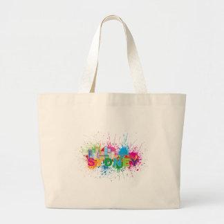 Sydney Skyline Abstract Color Illustration Large Tote Bag