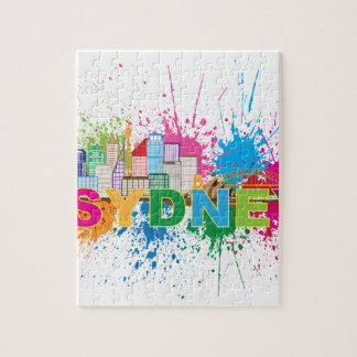 Sydney Skyline Abstract Color Illustration Jigsaw Puzzle