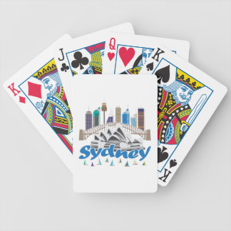 Sydney Skyline Bicycle Playing Cards